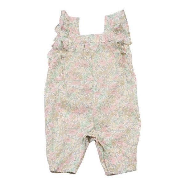 011dec49 Kids Bonton Baby Printed Romper - Pink Floral | Garmentory