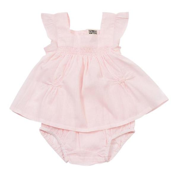 c1320253 Kids Bonton Baby Smocked Cotton Top and Bloomers - Pink Blossom ...