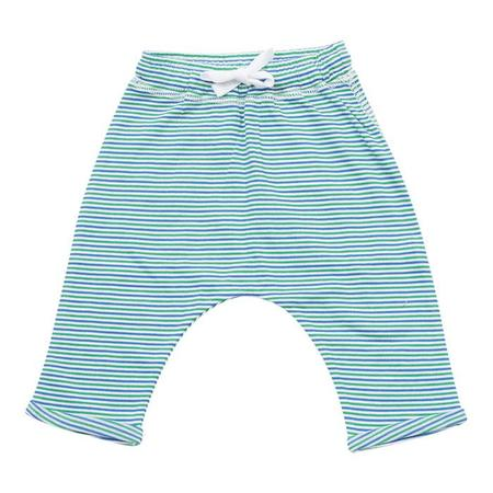 Kids Bonton Baby Harem Pants - Green Stripes