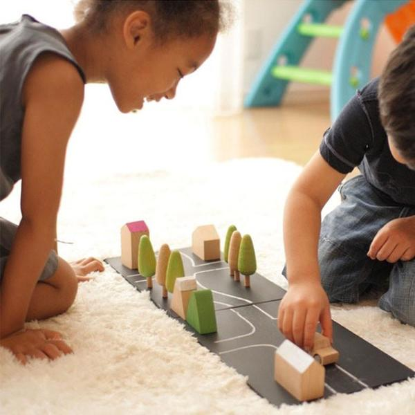 Kids Kukkai Machi Wooden Town Play Set