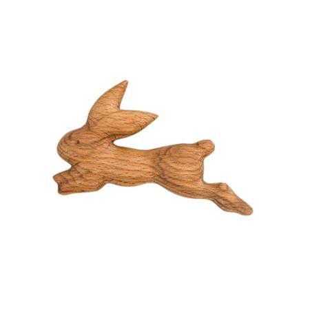 Kids Litolff Handmade Wooden Bunny Rattle