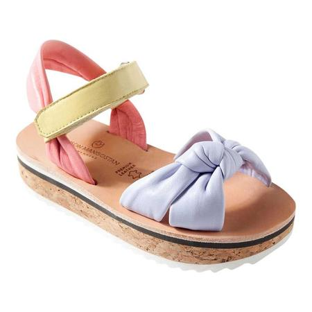 KIDS Maison Mangostan Abacate Leather Sandal - Tricolour
