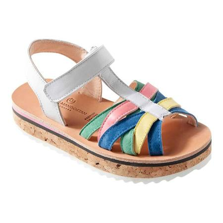 KIDS Maison Mangostan Dragon Fruit Leather Sandal - Multicolour