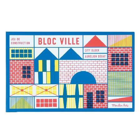 Kids Moulin Roty 40 Pieces Dans La Ville Building Blocks