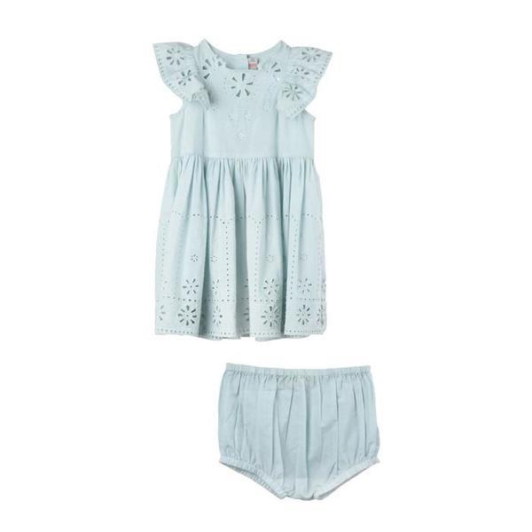 d3e978a71db5 Kids Stella McCartney Sundae Baby Eyelet Dress with Flutter Sleeve ...