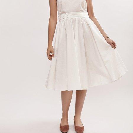 Amanda Moss Promenade Skirt - WHITE