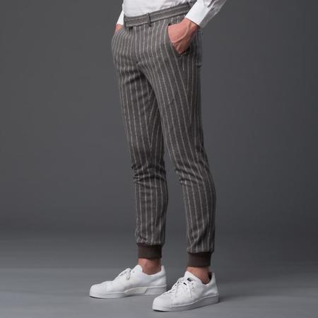 Garciavelez Pinstripe Nomad Jogger Pant - Grey