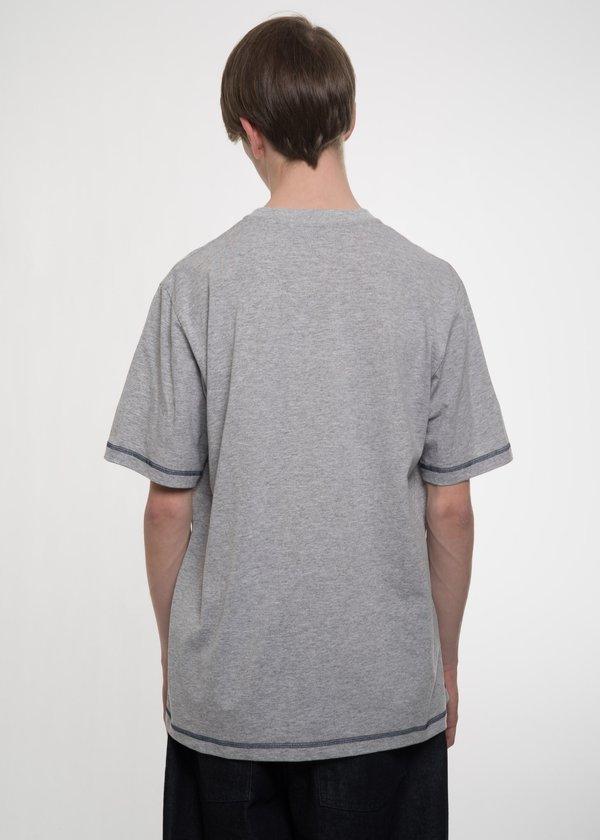 Sunnei Contrast Stitching T-Shirt - GREY