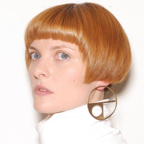 PAR ICI Large Circle Cutout Earrings