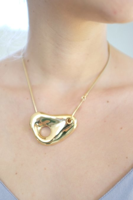 Leigh Miller Pebble Necklace - 14K Yellow Gold Plated