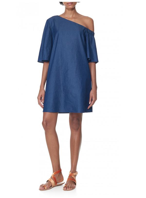71f03c39b1 Tibi One Shoulder Dress - Denim. sold out. Tibi