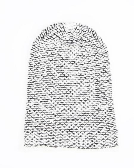 Ellen Seed Stitch Hat - Cream/Dark Grey