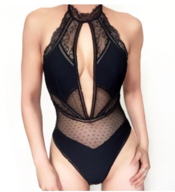 53c810341278 Thistle and Spire Amore Plunge Bodysuit - BLACK