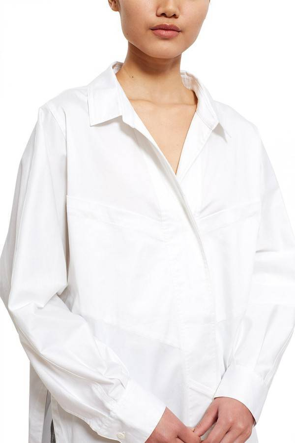 Visit New Finishline For Sale White Sateen Eliptical Seam Shirt Opening Ceremony Free Shipping Sale Online Clearance Store Cheap Price aHkTySv4Ac