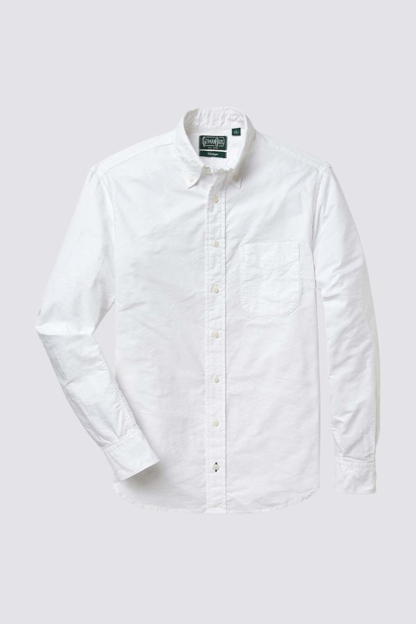 Gitman Vintage Cotton Oxford - White