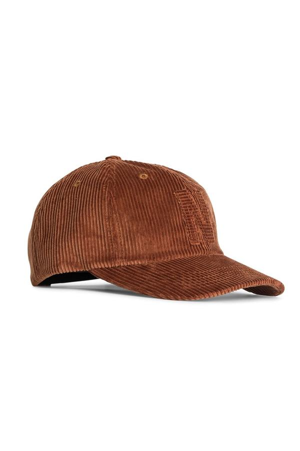 Norse Projects 6 Panel Corduroy Cap - Zircon Brown  a5a0a574862