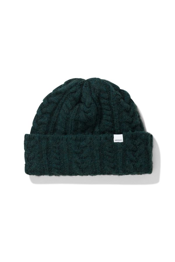 e20ddc00233 Norse Projects Brushed Cable Beanie - Moss Green