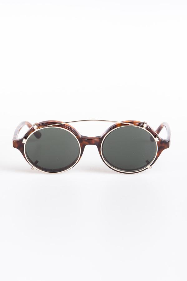 ee3d72ac13 Han Kjobenhavn Doc Clip-On Sunglasses - Amber
