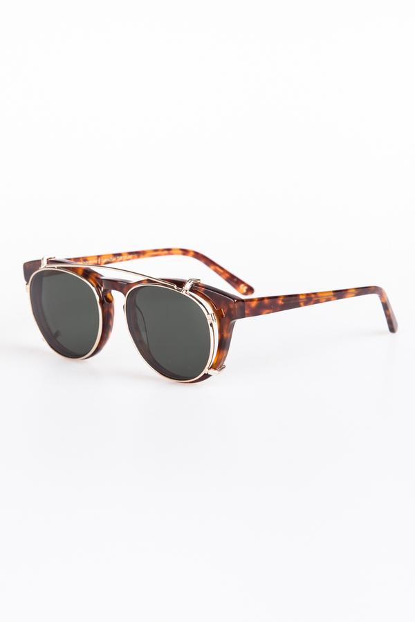 e8d11593f0 Han Kjobenhavn Timeless Clip-On Sunglasses - Amber