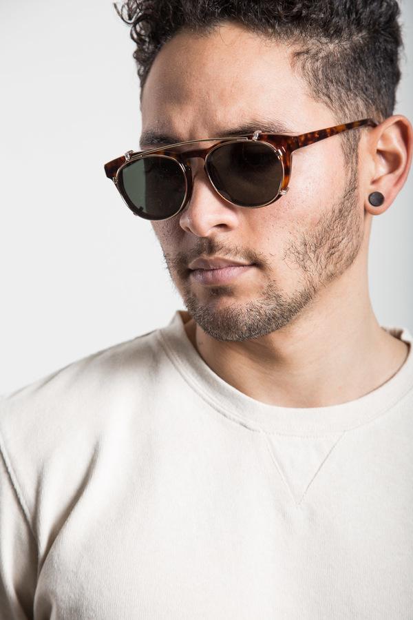 9ad04cabff2e Han Kjobenhavn Timeless Clip-On Sunglasses - Amber
