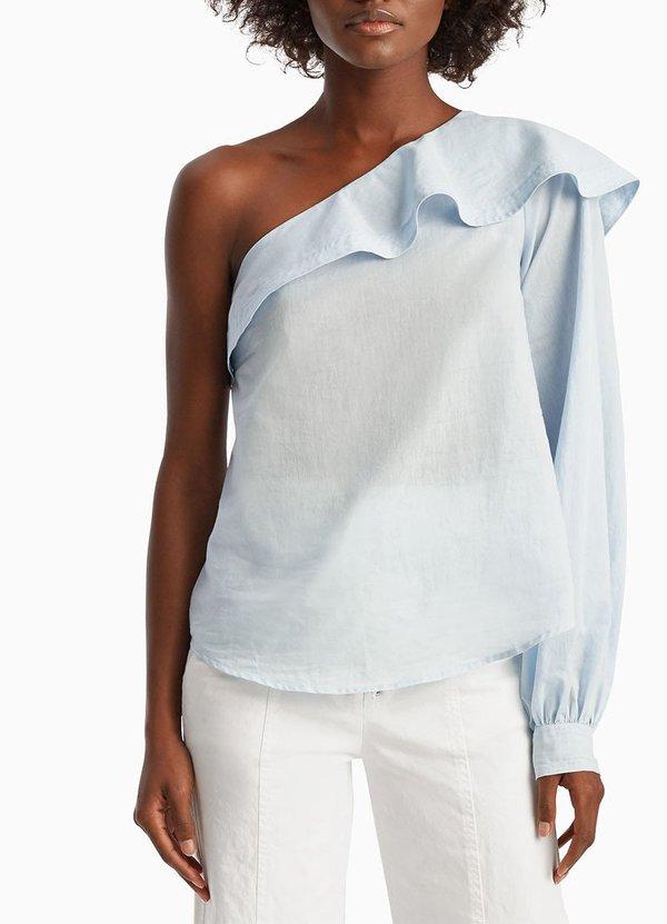 33ea70977b6 A.L.C. Brielle Top - Oxford Blue | Garmentory