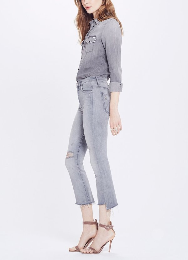 huge selection of the best attitude best deals on Mother Denim Insider Crop Step Fray - Best Left in The Shadows on Garmentory