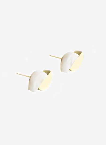 Lien Hereijers Concave Earrings - Whitesque