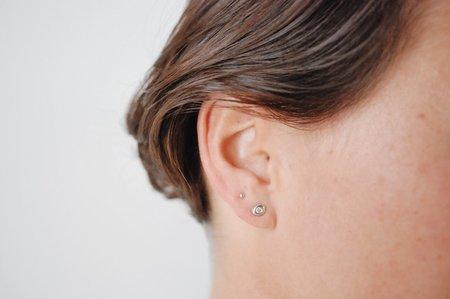 M. Hisae Diamond Pebble Studs
