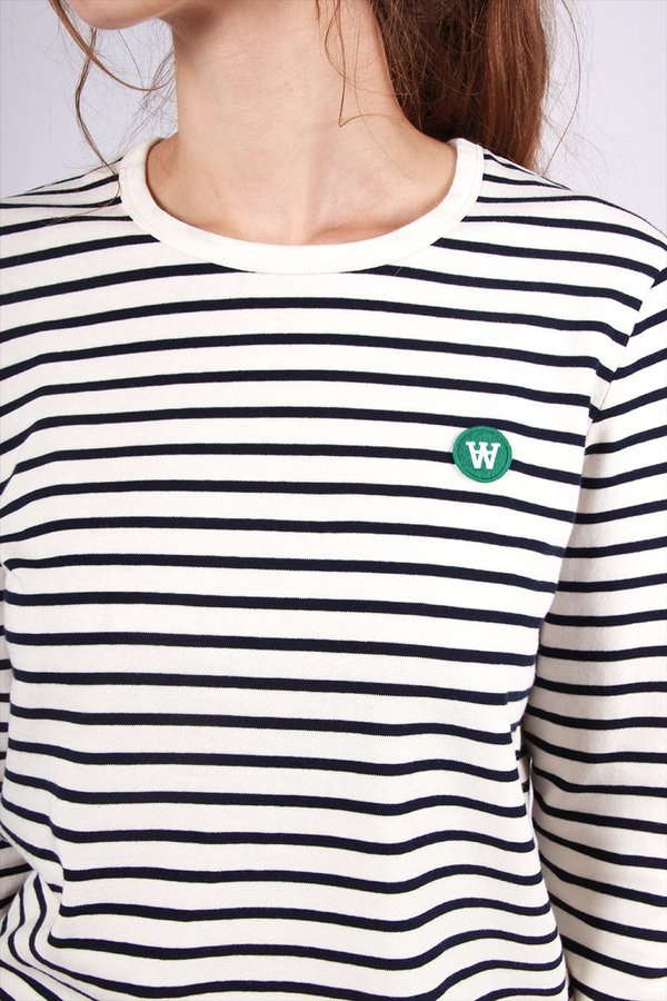 4a21d621867 Wood Wood Moa Long Sleeve T-Shirt - off white/navy stripe. sold out. Wood  Wood