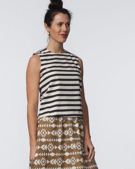SBJ Austin Kaya Top - Navy & Cream Stripe