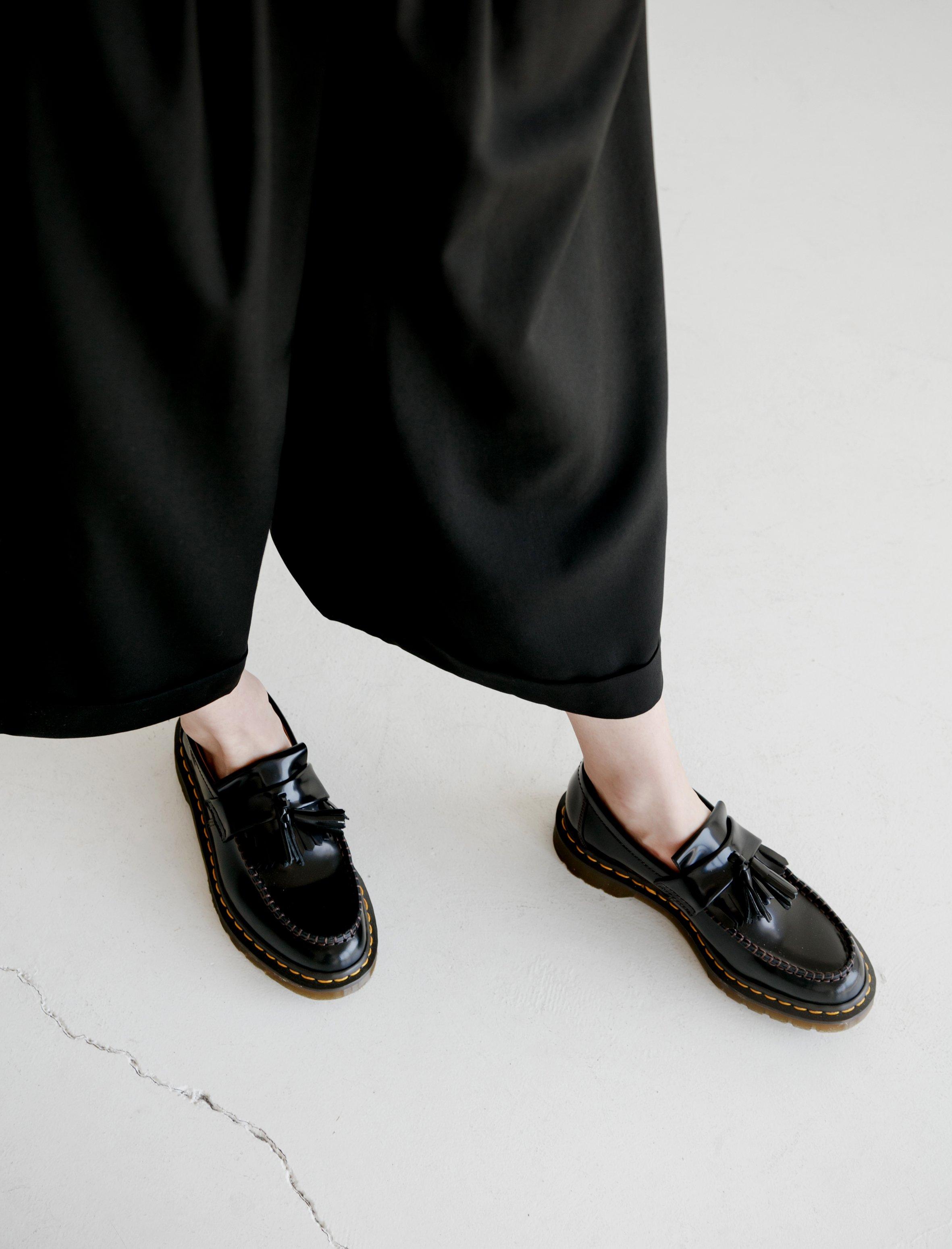 Comme Des Garçons Dr Martens Adrian Tassel Loafers Black Garmentory