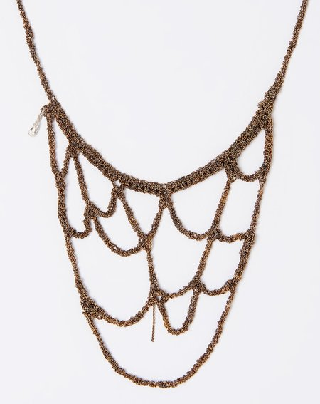 Arielle De Pinto Web Necklace - Burnt Gold