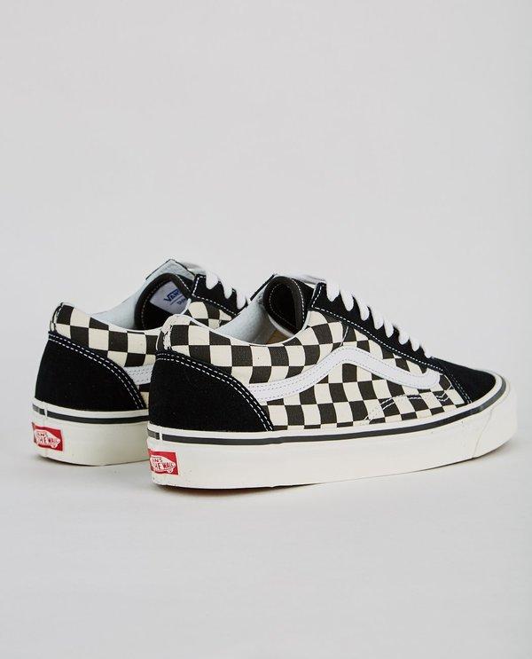 black checkered vans old skool