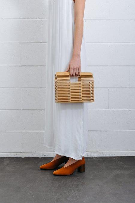 Pipe And Row Bamboo Box Handbag