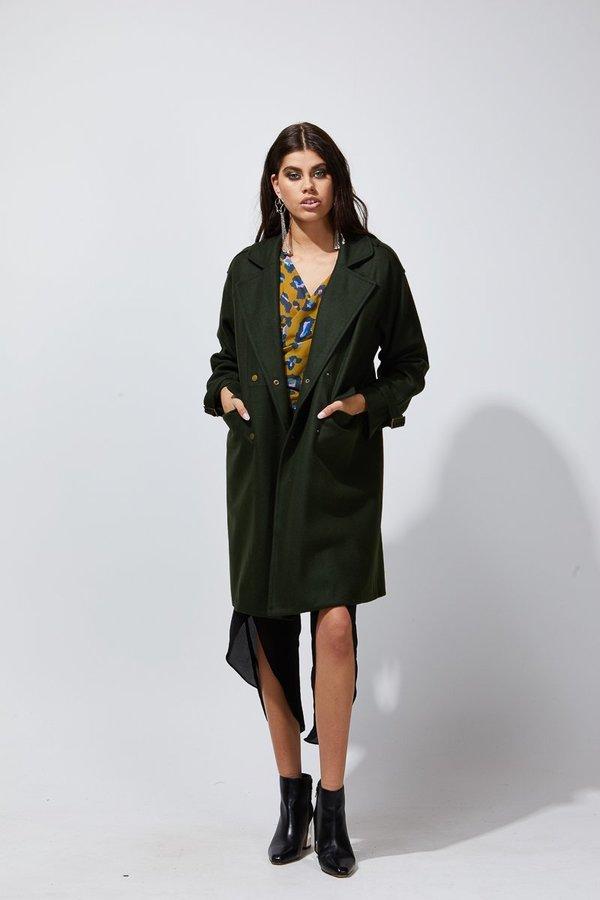 PIA Military Coat - BLACK on Garmentory