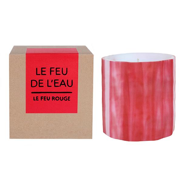 LE FEU DE L'EAU  ROUGE CANDLE - Red