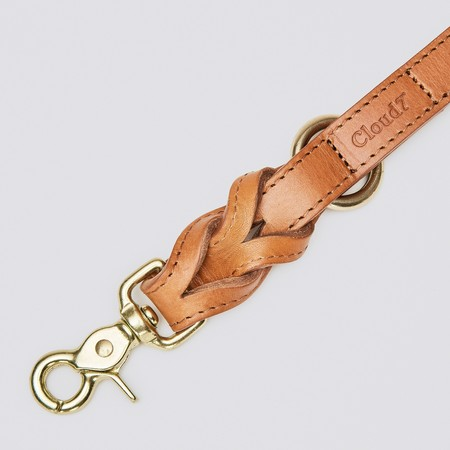 CLOUD7 DOG LEASH HYDE PARK - COGNAC
