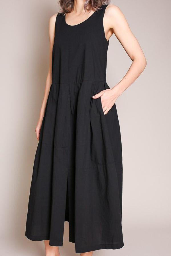 Black Crane Patched Dress
