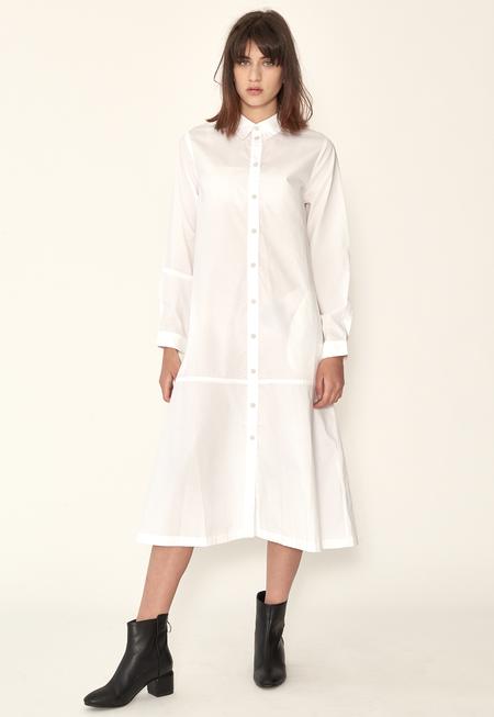Kowtow Monologue Shirt Dress - White