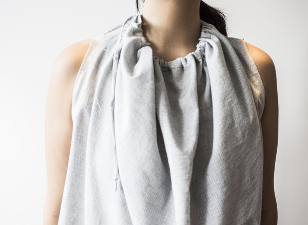 House of 950 Circle To Square Top - Grey Stripe