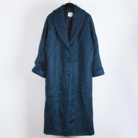 Samuji Merel Coat - Petrol Blue