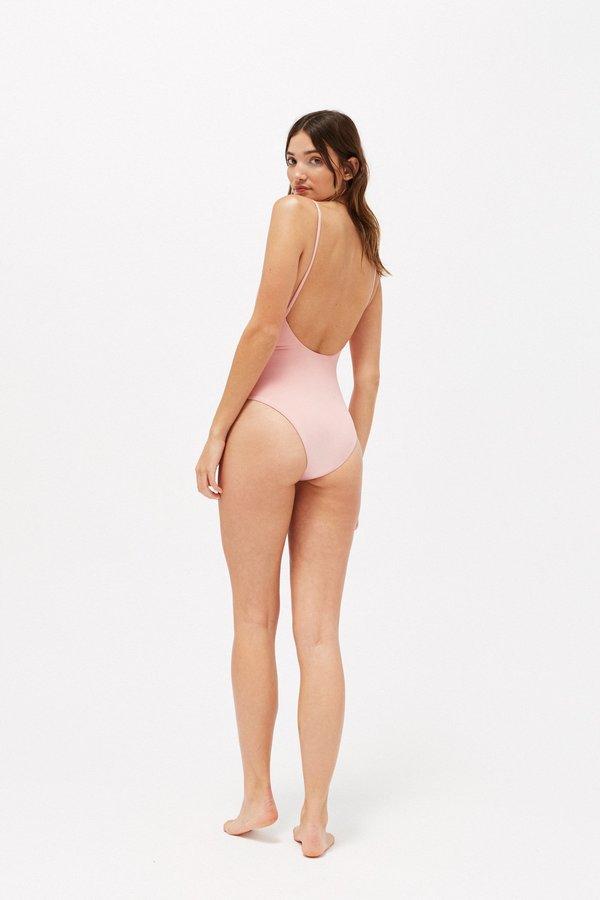 Lacausa Scoop Back One Piece - Flamingo