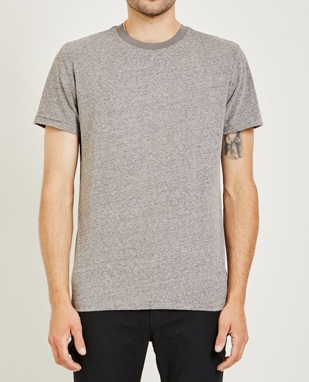 AR321 MELANGE CREW NECK TEE - MEDIUM GRAY