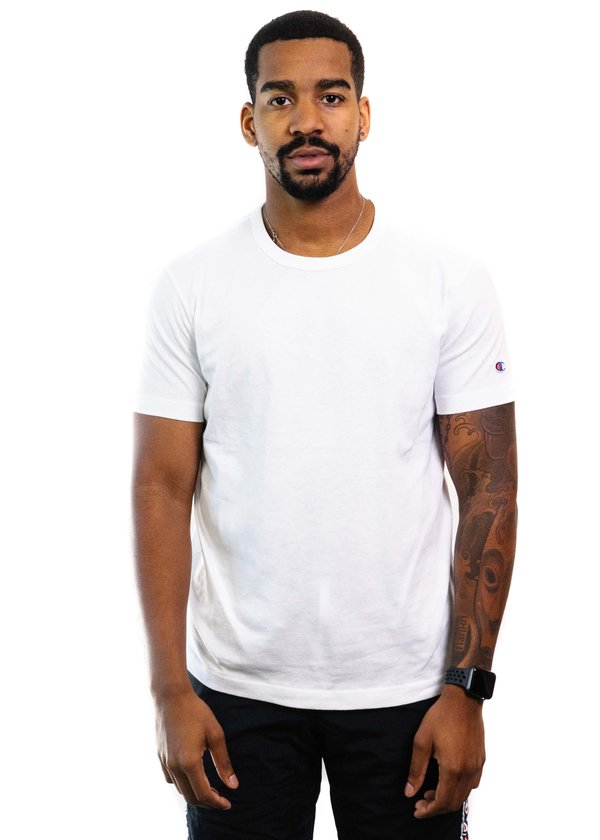 f6b7bd784 Champion Reverse Weave Basic T-Shirt - White | Garmentory