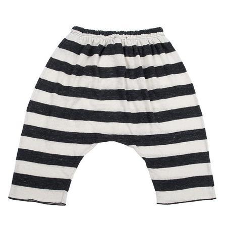 KIDS Album di Famiglia Marianna Lino Striped Pant - Black Melange