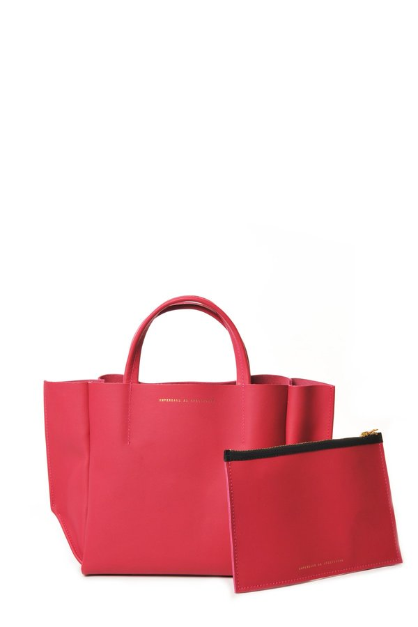 Ampersand as Apostrophe Bright Rose half tote