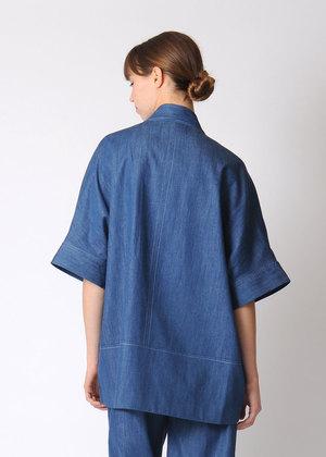7115 by Szeki Short Sleeves Kimono Jacket