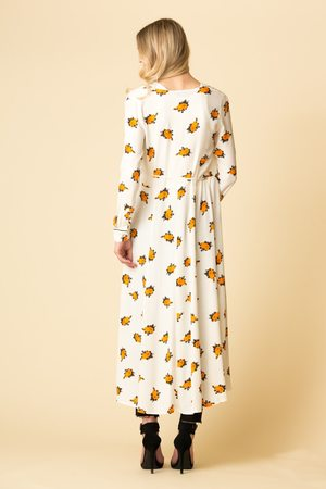 Ganni Roseburg Crepe Wrap Dress