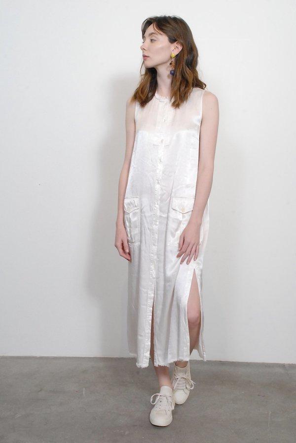 Raquel Allegra Cargo Shirt Dress