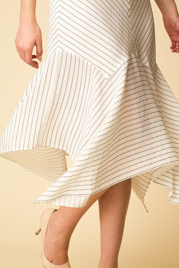 Ganni Wilkie Seersucker Skirt